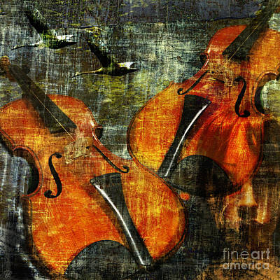 Only Music Heals A Broken Heart Art Print by LemonArt Photography