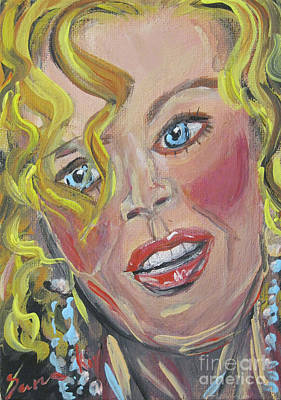 Painting - Only Nicole, Golden And Curly Hair... by Oksana Semenchenko
