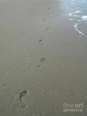 Nature Photograph - Only One Set Of Footprints by D Hackett