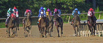 Horse Racing Photograph - Only One Winner by Betsy Knapp