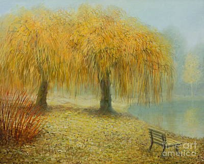 Weeping Willow Painting - Only The Two Of Us by Kiril Stanchev