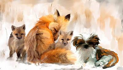 Fox Kit Digital Art - Only The Very Best by Richard Okun