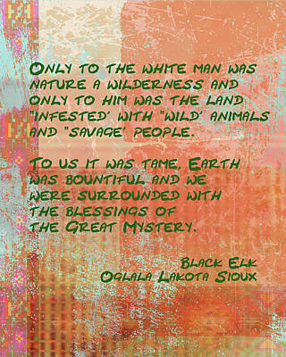 Digital Art - Only To The White Man by Paulette B Wright