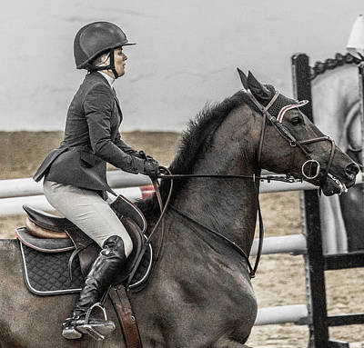 Canter Photograph - Only Us Only One by Betsy Knapp