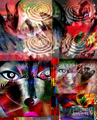 Yesayah Mixed Media - Only You In My Eyes by Fania Simon