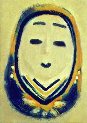 Onna Daruma Art Print
