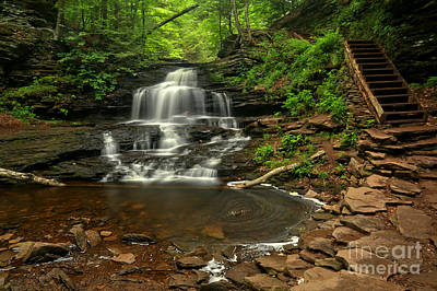 Photograph - Onondaga Falls by Adam Jewell