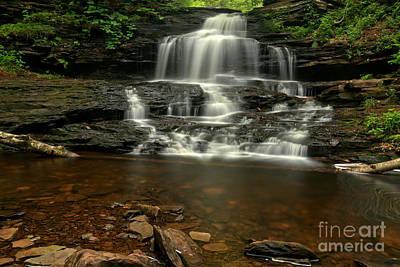 Photograph - Onondaga Waterfall by Adam Jewell
