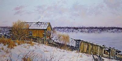 Owls - Onshore. Winter by Alexander Volya