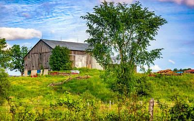 Split Rail Fence Photograph - Ontario Barn 2 by Steve Harrington