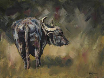 Water Buffalo Wall Art - Painting - Onwards by Kirsty Rebecca