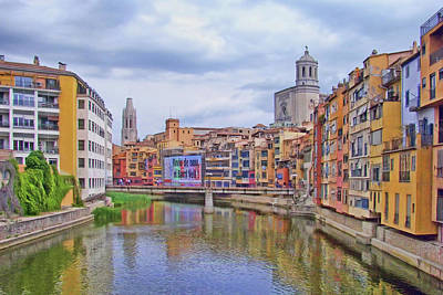 Photograph - Onyar River - Girona by Nikolyn McDonald