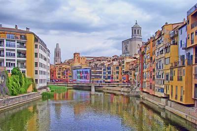 Photograph - Onyar River - Girona by Nikolyn McDonald