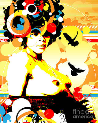 Nostalgic Seduction Digital Art - Onyx Doves by Chris Andruskiewicz