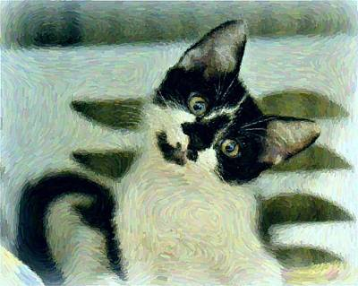 Cats Wall Art - Digital Art - Onyx by Raven Hannah