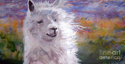 Alpaca Painting - Oo Lala  by Debi Bond