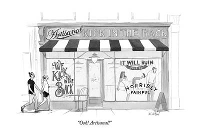 Hipster Drawing - Ooh Artisanal by Will McPhail