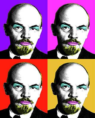 Lenin Digital Art - Ooh Mr Lenin by Gary Hogben
