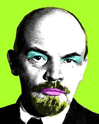 Lenin Digital Art - Ooh Mr Lenin - Lime by Gary Hogben