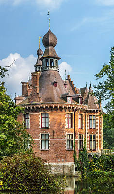 Photograph - Ooidonk Castle Tower by Wim Lanclus