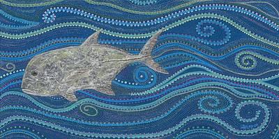 Hawaiian Fish Painting - Oolala Ulua by Linda Peterson