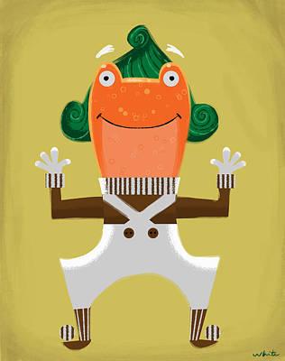 Wonka Digital Art - Oompa Loompa Frog by Brian White