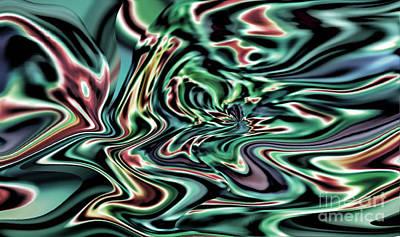 Digital Art - Oozing II by Jim Fitzpatrick