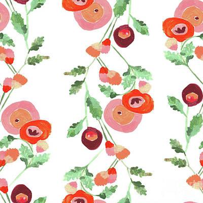 Digital Art - Op Art Floral by Marni Stuart