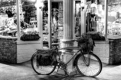 Photograph - O.p. Taylor's Toy Store Brevard North Carolina Bw by Carol Montoya
