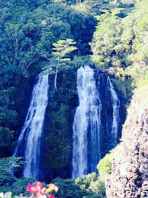 Photograph - Opaeka'a Falls - Edit  by Alohi Fujimoto