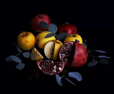 Opal Apples And Pomegranates Art Print