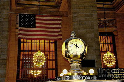 Opal Atomic Clock At Grand Central Art Print by Jacqueline M Lewis