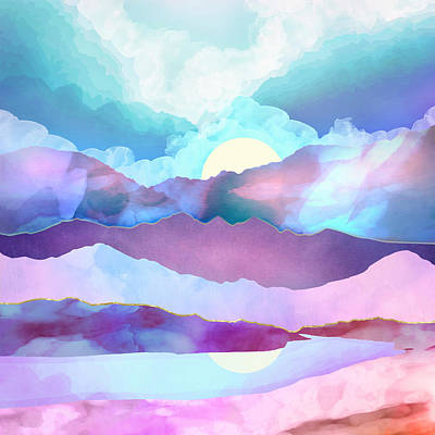 Mountain Digital Art - Opal Mountains by Spacefrog Designs