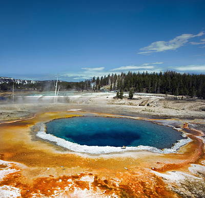 Yellowstone Photograph - Opal Pool by Amateur photographer, still learning...