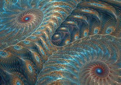 Digital Art - Opal Snails by Martin Capek