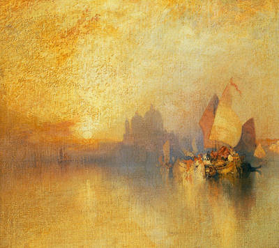 Harbour Painting - Opalescent Venice by Thomas Moran