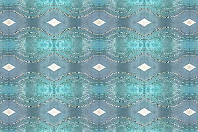 Digital Art - Opalescent Wave Design by Ellen Barron O'Reilly