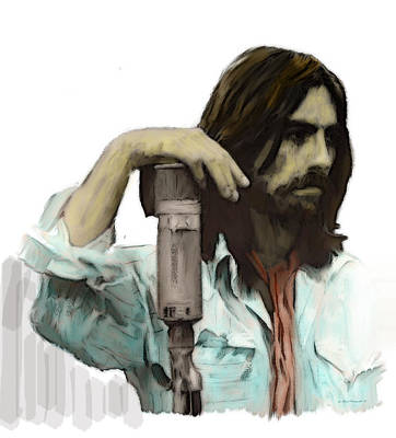 Legendary Guitarist George Harrison Painting - Opaque  George Harrison by Iconic Images Art Gallery David Pucciarelli