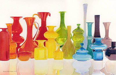 Painting - Opaque Glass Transparent Watercolor by Brenda Beck Fisher