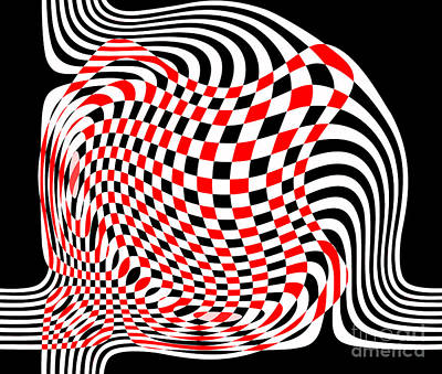 Digital Art - Opart Abstract by Methune Hively