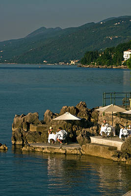 Photograph - Opatija Croatia Seaside Dining by Sally Weigand