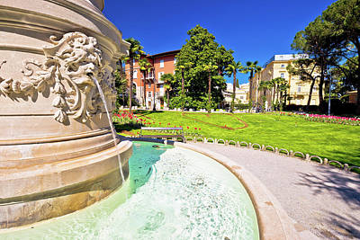 Photograph - Opatija Park And Fountain View by Brch Photography
