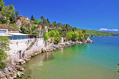 Photograph - Opatija Riviera Beach And Coastline View by Brch Photography