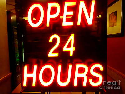 Photograph - Open 24 Hours by Ed Weidman