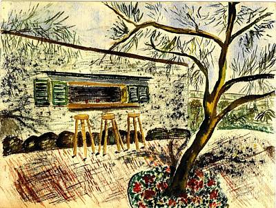 Snack Bar Painting - Open Air Cafe by Eleanor Robinson
