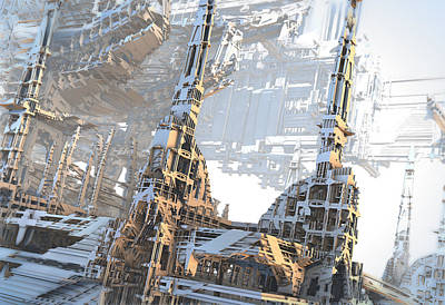 Digital Art - Open Air Construction by Hal Tenny