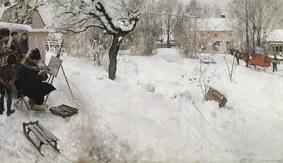 Open-air Painting - Open Air Painter by Carl Larsson