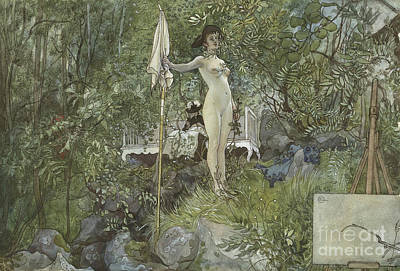Pose Drawing - Open Air Studio by Carl Larsson