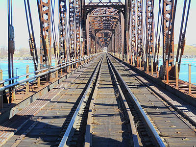 Photograph - Open Air Tunnel - Railway Bridge To United States by Leslie Montgomery