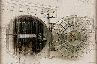 Digital Art - Open Bank Vault Door And Lock by Serge Averbukh